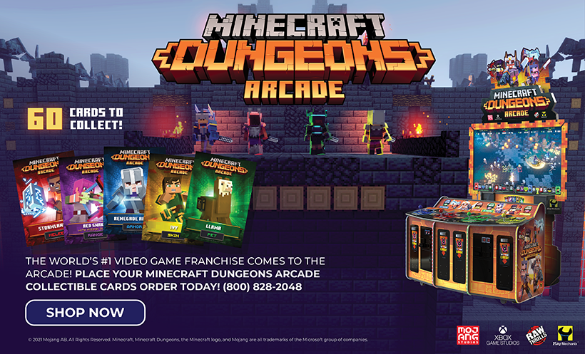 Minecraft Dungeons Arcade Collectible Cards