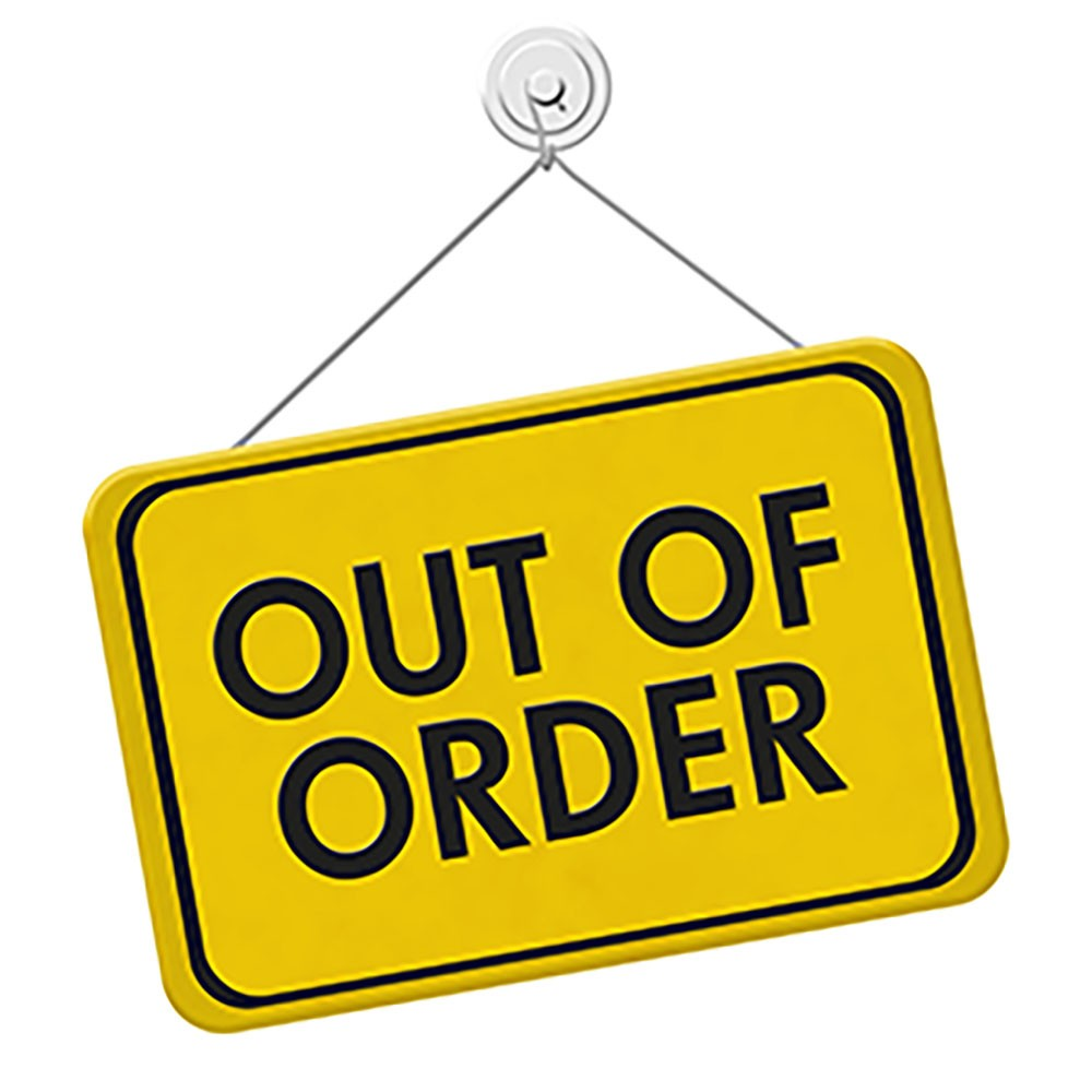 Arcade Out of Order Sign